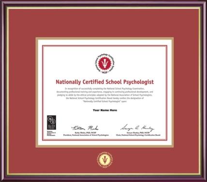 NCSP Certificate Frame